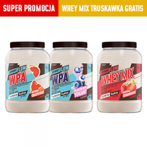 powerFLOW MIX 3-pak   WPA grapefruit+ WPA jagoda  + WHEY MIX truskawka GRATIS