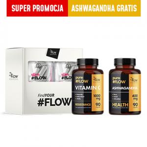 3FLOW MIX DLA KOBIET – slimFLOW 2pak+ Vitamina C+ ASHWAGANDHA GRATIS