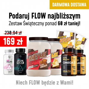 Mega Zestaw Świąteczny: 2x Whey Mix, slimFLOW dla dwojga, Omega 3, Vitamin C i 2 porcje białek