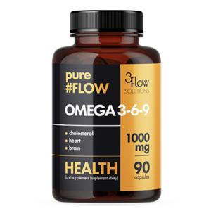 pureFLOW OMEGA 3-6-9: 1000mg (90 kapsułek)